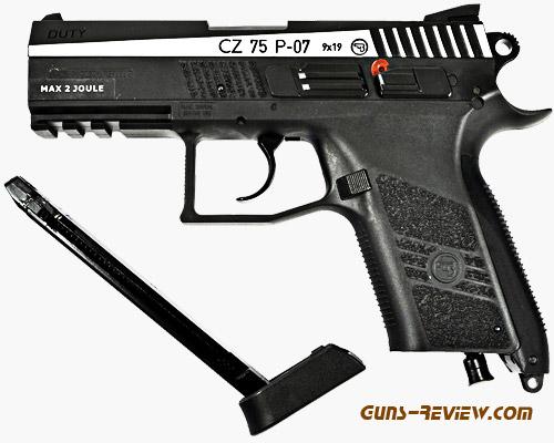 CZ-75 P07 Duty Compact - Пневматический пистолет ASG от Guns-Review