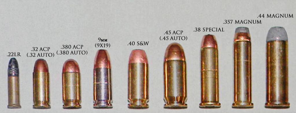 Сравнение патронов для пистолета и револьвера