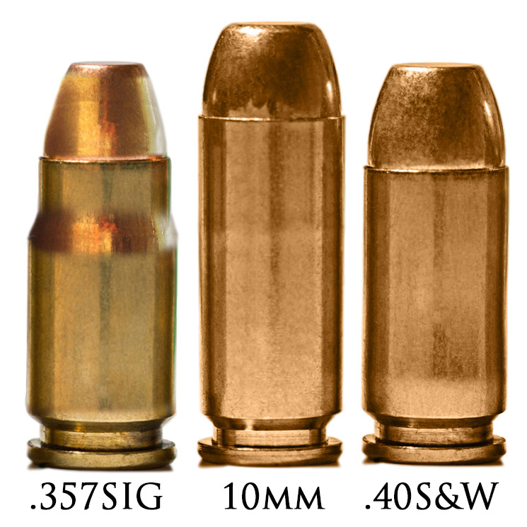 Патроны калибра .357 SIG, 10mm, 40 S&W