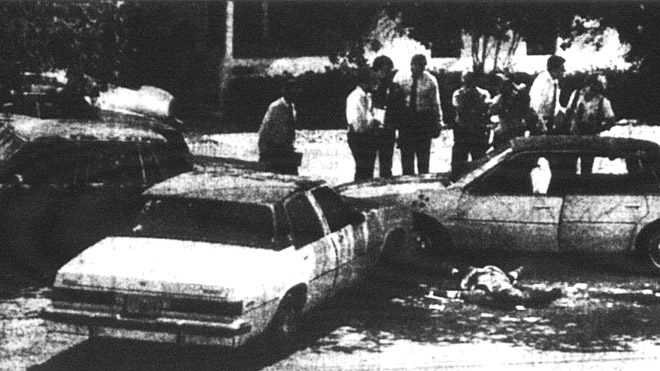 Фото с места перестрелки агентов ФБР