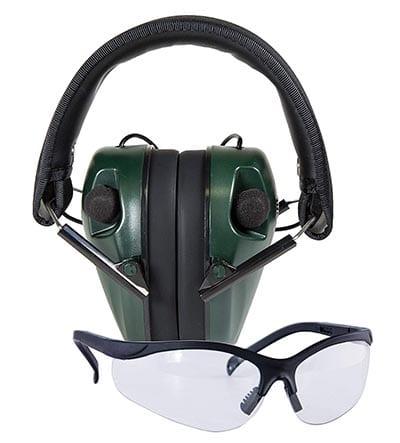 Защитные наушники и защитные очки