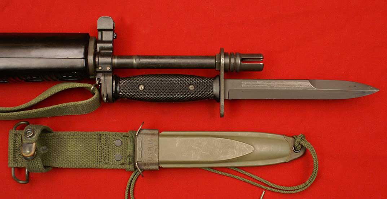 Крепление штык ножа на M-16